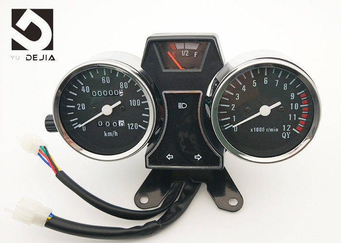 Black 12 Volt Motorcycle Digital Speedometer For 90-A Fuel Gauge Display